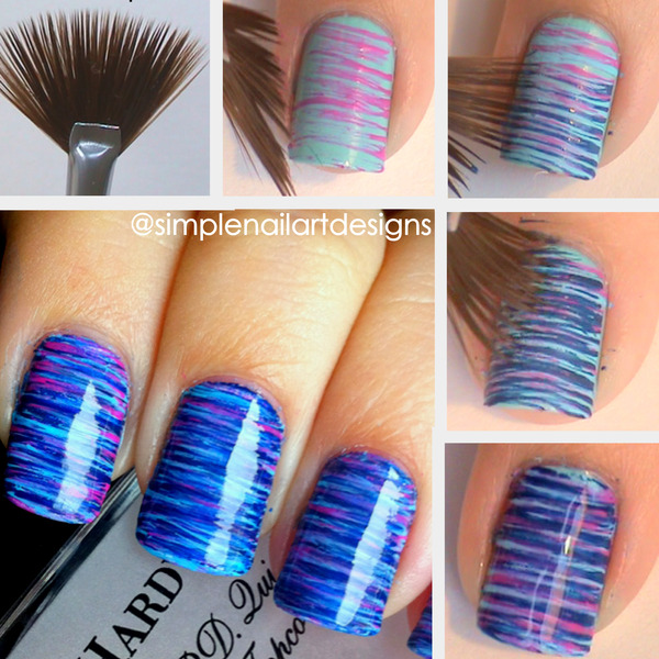 Fan Brush Nail Art Tutorial Simplenailartdesigns Ss