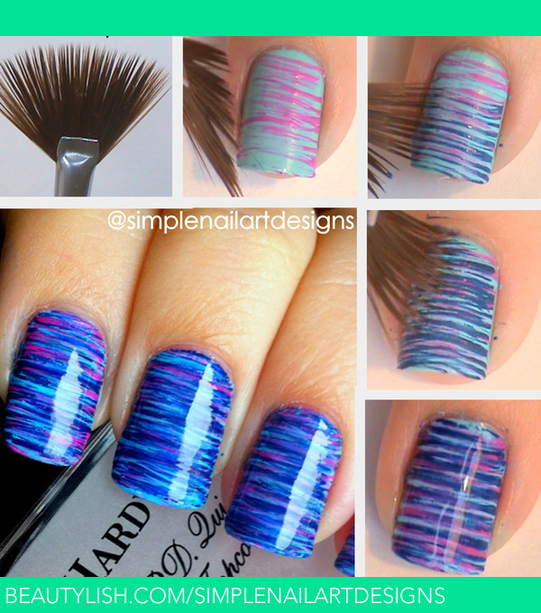 Fan Brush Nail Art Tutorial | simplenailartdesigns s.'s ...