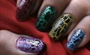 Crackle Nail Design -nail art Easy nail Design for Beginners easy nail design home short nails