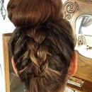 Inside out braid and ballerina bun!! :)