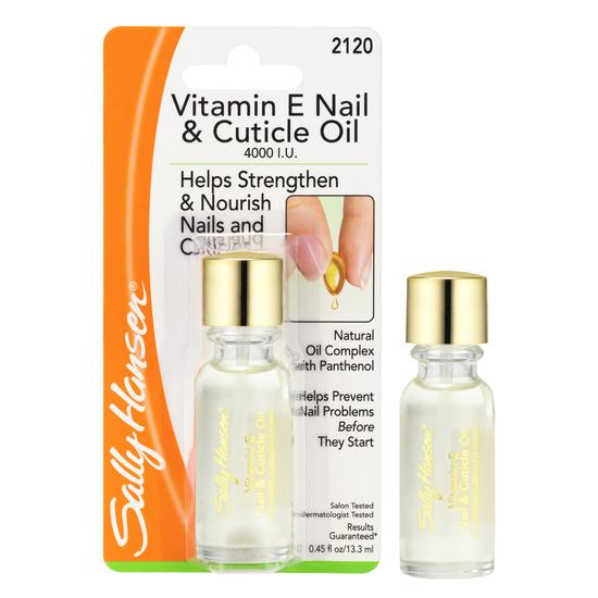 Keep Nail Polish Off Cuticles: Sally Hansen Vitamin E Moisturizing Nail & Cuticle Oil