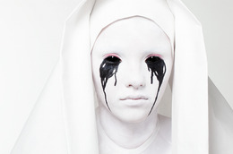 Simple Halloween Look! Weeping Nun Makeup