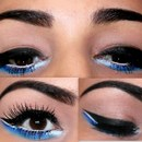 Dramatic Black Make Up Look With A Pop Of Blue