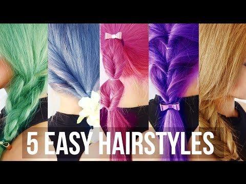 5 Minute Easy Hairstyles School Hair Tutorial Wengie Wendy H