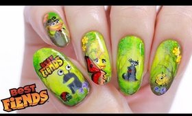 Best Fiends Nails + DIY Nail Decal Hack!