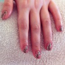 Leopard print shellac nails