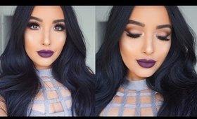 Glowing Skin, Matte Eyes, & Plum lips Makeup Tutorial