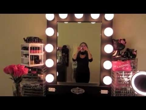 vanity girl hollywood lighted broadway mirror review sweetglamourmakeup video beautylish. Black Bedroom Furniture Sets. Home Design Ideas