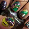 Mardi Gras Nails.