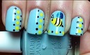 Honey Bee - Nail Polish Designs Long & Short Nails - Cute Easy Nail Art Tutorial Video DIY