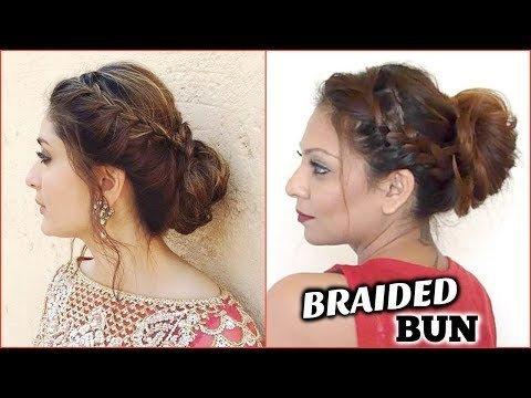 Side Braid Updo Hairstyle Tutorial Easy Kareena Kapoor Messy