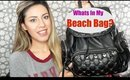 Whats In My Beach Bag?! | Collab with Whitney Estes