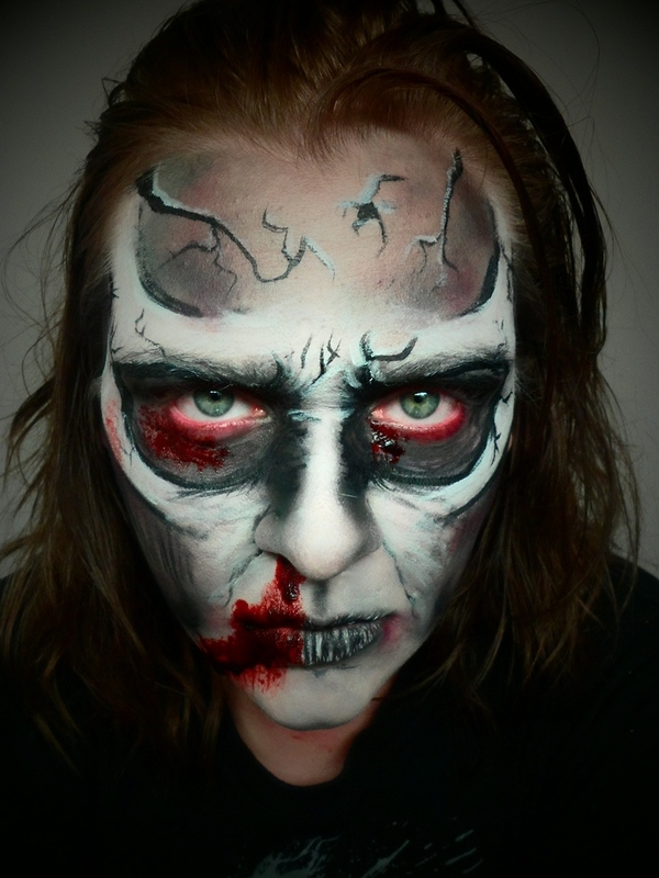 animated cartoon zombie demon skull makeup rebeckah