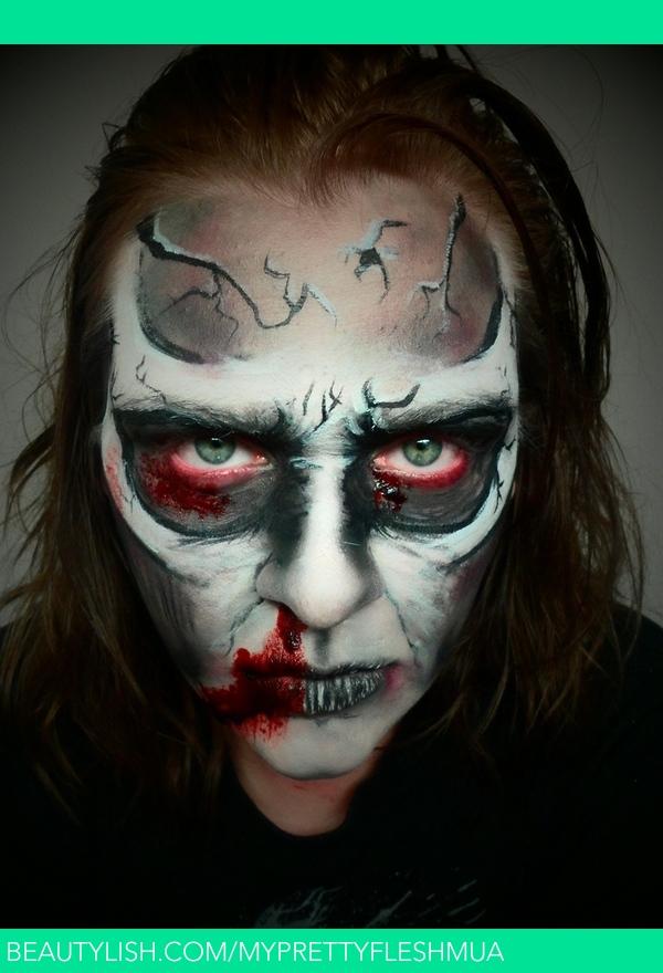Animated Cartoon Zombie Demon Skull Makeup Rebeckah