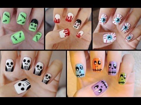 Five Cute & Easy Halloween Nail Tutorials ...