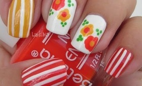 Nail Art - Candy Flowers - Decoracion de Uñas
