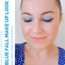 Blue fall make up look