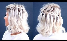 How To Waterfall Braid Short Hair | Milabu