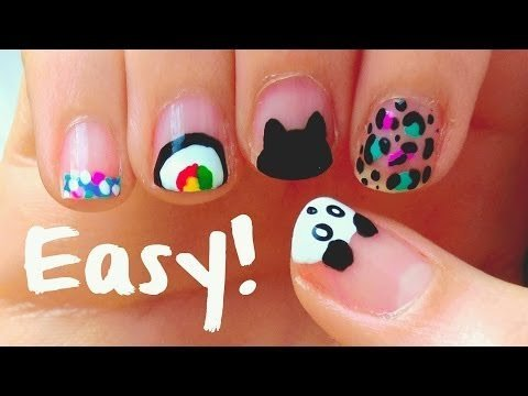 diy easy nail art designs for short nails for beginners