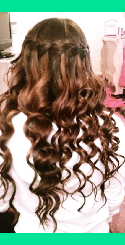 Waterfall Braid Amp Curls Megan K S Megan King Photo