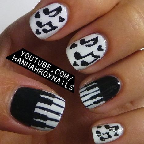Piano And Music Notes Nails Hannah Ls Hannahroxit Photo