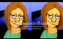 The Simpsons Makeup Edna Krabappel Last Minute Halloween Makeup Tutorial (Marcia Wallace) Face Paint