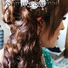 Elegant Side Swept Curls with Poof - Wedding Hair