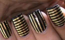 Striping tape nail art tutorial for beginners easy how to do nail art striping tape tutorial video
