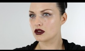 Glossy Eyes and Dark Lips Make-up