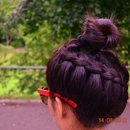 Diagonal Dutch Braid Bun