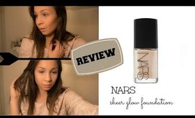 NARS sheer glow foundation | FIRST IMPRESSION & review