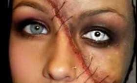 Halloween Series 2011: Split Face Makeup Tutorial