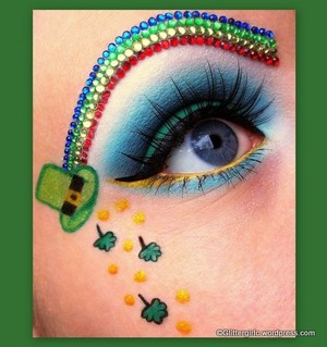 Using the Lime Crime Chinadoll Fantasy palette to create this St. Patrick' day inspired look! :) You can find out how I did the brows, on my blog, here: http://glittergirlc.wordpress.com/2012/03/17/happy-st-patricks-day/