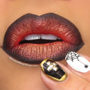 """Burnt Ombré"" lips & Creepy Nails"