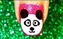 Panda nailart tutorial.... :-)