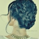 Mermaid Milkmaid Braid Updo Hair Tutorial for Medium or Long Hair
