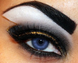 Inspired by Storm of the X-Men  http://makeupbysiryn.com/2012/06/13/storm-inspired-look/