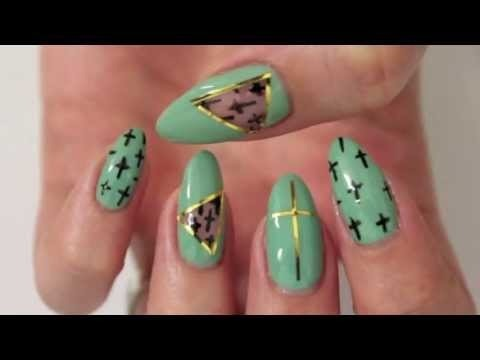 Mint Cut Out Nail Design Kirakiranail Video Beautylish