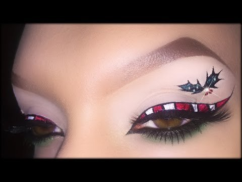 candy cane easy christmas makeup tutorial inspired by beautifulyoutv madeyewlook