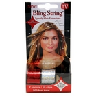 Bling String 500' Hair Tinsel with Clips - Silver/Red