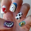 Alice in Wonderland Nailart