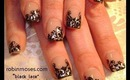 robin moses nail art: black and silver lace tutorial victorian steampunk (mother of the bride)