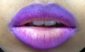 The perfect ombre lip: purple