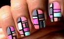 Color Blocking Nail Polish Designs + Tmart Review for easy nail art to do at home nail Tutorial