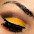 Yellow & Brown Cut Crease
