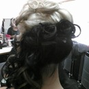 Pin Curls Up Do