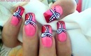 Breast Cancer Awareness Nails Art Design Tutorial - ♥ MyDesigns4You ♥