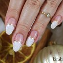 Snowy French Nails