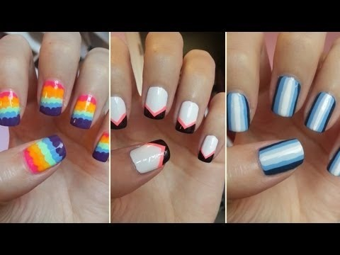 easy nail art for beginners 5  missjenfabulous video