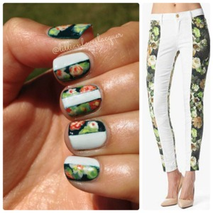 Inspired by floral print denim from 7 For All Mankind